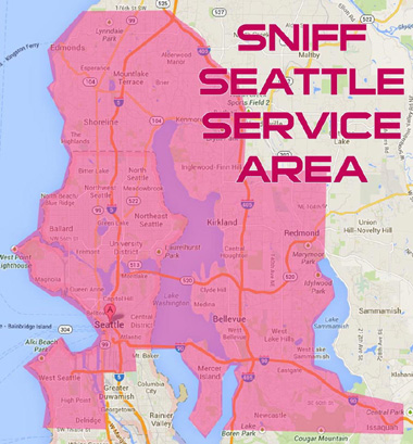 Map Of Where Sniff Seattle Walks Dogs