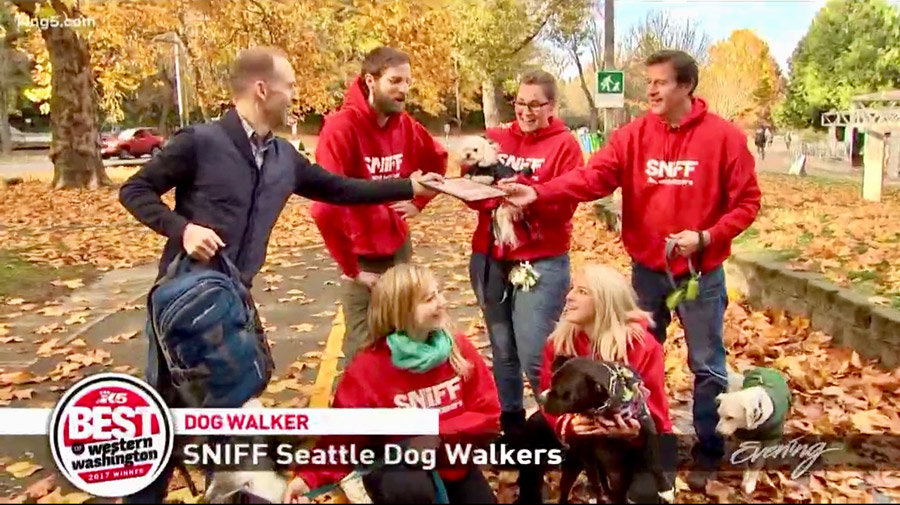 SNIFF Named Best Dog Walker, Best Of Western Washington