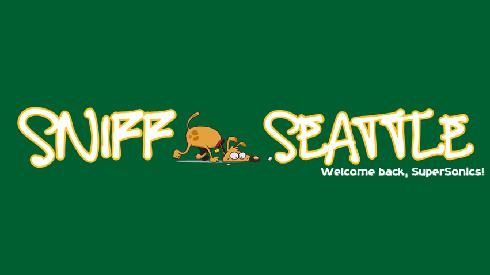 Sniff Seattle Sonics Logo, SuperSonics, Dog Walkers