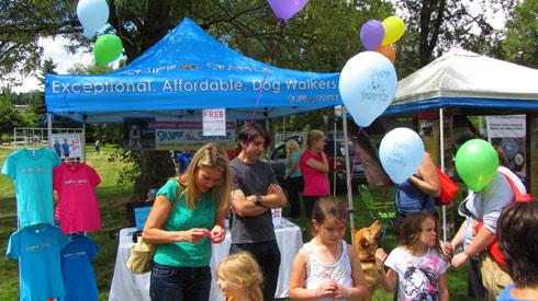 Sniff Seattle Tent, Go Dog Go Kirkland Canine Festival, Dogs