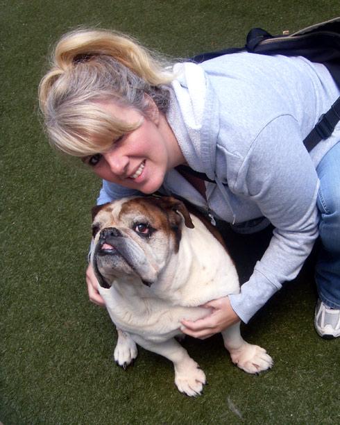 Sniff Seattle Dog Walkers, Jeanna, Cornbread