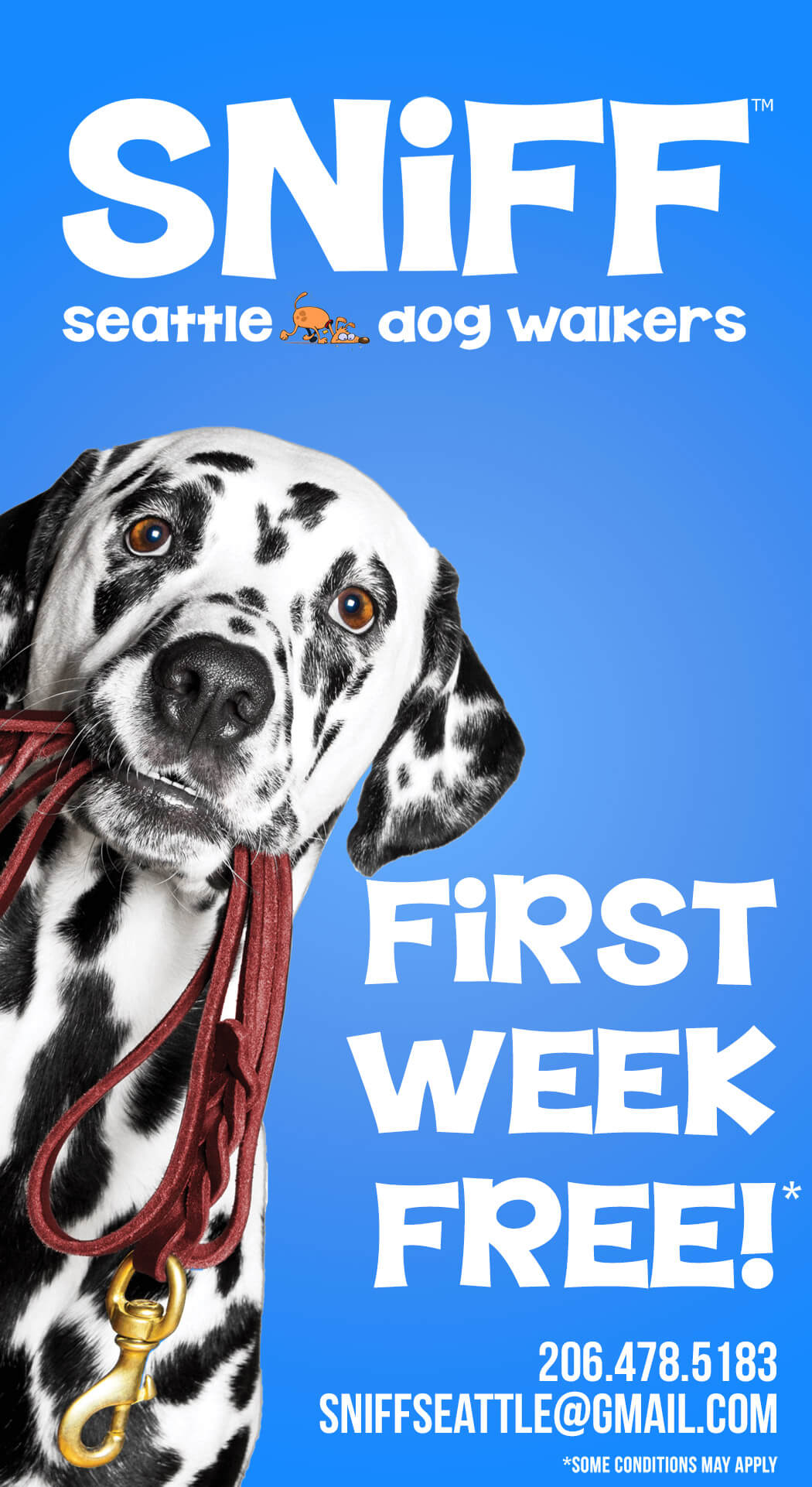 First Week Free From SNIFF Seattle Dog Walkers
